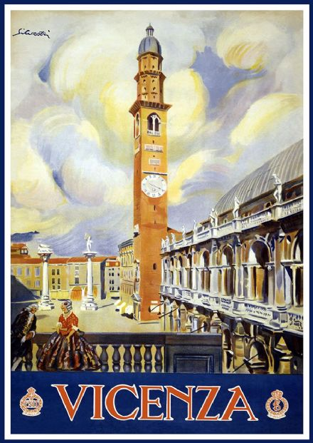 Vicenza. Vintage Travel/Tourism Print/Poster. Sizes: A4/A3/A2/A1 (002743)